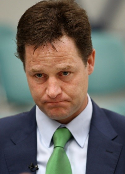 Nick Clegg - contemplating mediation in the Lord Rennard case?